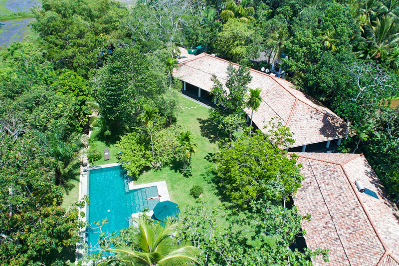 Boundary House a Luxurious Villa surrounded with Paddy in Galle, Sri Lanka